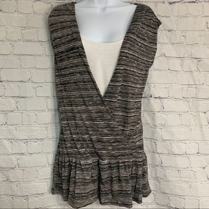 Almost Famous Black and White top Medium
